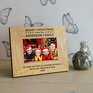 Pesonalised Family Christmas Photo Frame