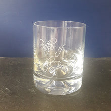 Load image into Gallery viewer, Engraved Father of The Bride Whisky Glass Engraved Father of The Groom Whisky Glass