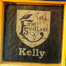 Load image into Gallery viewer, GAA Clun Engraved Slate Coaster Set