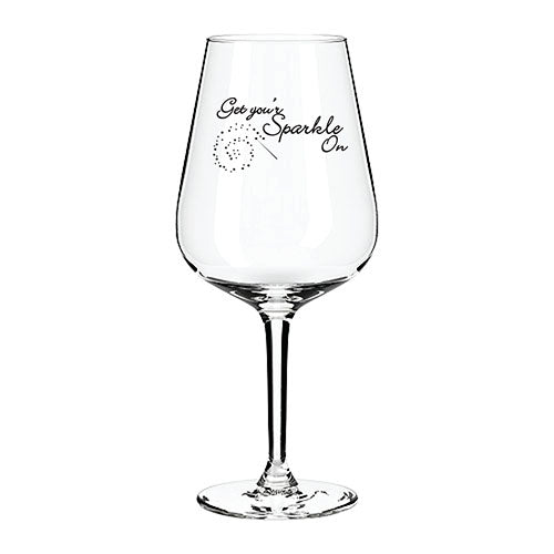 Get Your Sparkle On Engraved Wine Glass