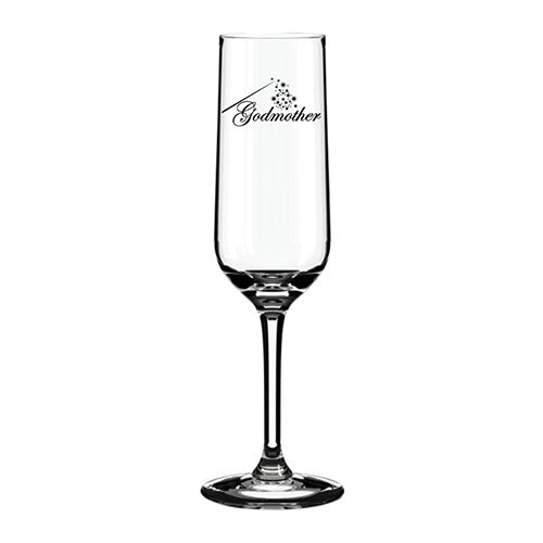 Will you be my Godmother Personalised Glass Engraved Champagne Glass  The Godmother Engraved Flute Godmother Customised Champagne Flute Personalised Gifts for Godmother Champagne Flute Engraved Personalised Gifts for Godmother Cinderella Godmother Themed Champagne Glass