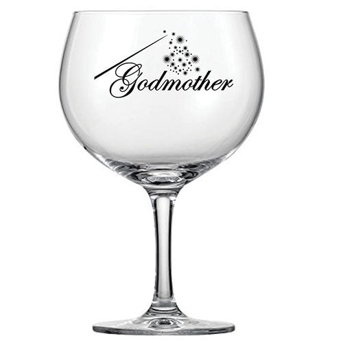 The Godmother Engraved Gin Glass Personalised Gin Glass
