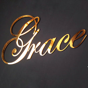 Wall Decal Wall decorations Acrylic Name Sign  Acrylic Wall Name Sign
