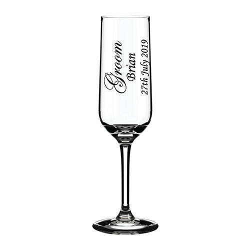 Engraved Wedding Champagne Flute Customised Champagne Flute Personalised Champagne Flute Wedding Glassware Top Table Engraved Champagne Flutes