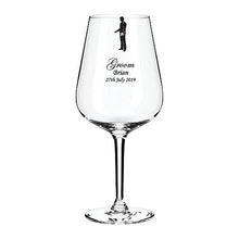 Load image into Gallery viewer, Engraved Top Table Wedding Wine Glass Engraved Wine Glass Personalised Wine Glass Customised Wine Glass Any Message Here Engraved Wine Glass Grooms Wine Glass