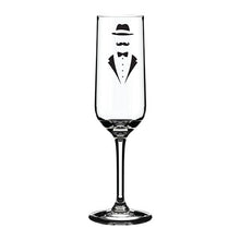 Load image into Gallery viewer, Engraved Champagne Flute Personalised Glass Suit Themed Engraved Flute
