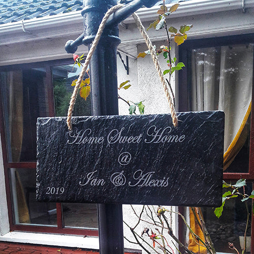 Personalised House Slate Sign