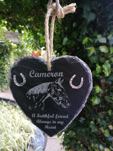 Slate Heart Memorial for your Pet
