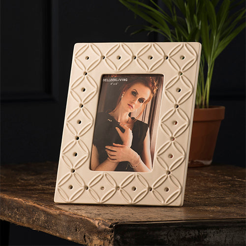 Belleek Photo Frame Inish Photo Frame Wedding Photo Frame Wedding Photo Wedding Picture Frame Irish Design Made in Ireland Irish Ceramics