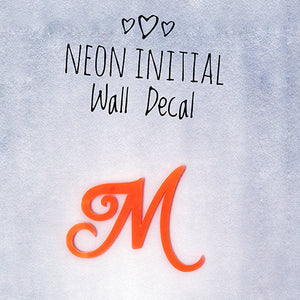 Wall Decal Custom Initials Neon Initial Wall Sign Wall Decorations Initials Wall Sign Initial Signs Bedroom Wall Signs