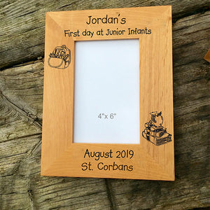 Personalised First Day of School Photo Frame