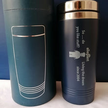 Load image into Gallery viewer, Personalised Travel Mug Engraved Reusable Coffee Cup