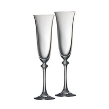 Load image into Gallery viewer, Galway Crystal Flute Stemmed Glasses Champagne Glasses Wedding Toasting Glassware Engraved Champagne Flutes Personalised Champagne Flutes Top Table Toasting Flutes