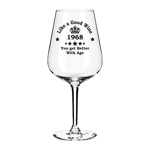 Engraved Birthday Wine Glass Engraved Wine Glass Personalised Wine Glass Customised Wine Glass