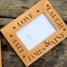 Load image into Gallery viewer, Personalised Wooden Picture Frame