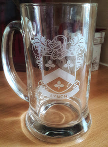 Coat of Arms Family Coat of Arms Engraved Coat of Arms Beer Tankard Engraved With Coat of Arms