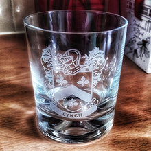Load image into Gallery viewer, Coat of Arms Whisky Tumbler Engraved Coat of Arms Whisky Tumbler
