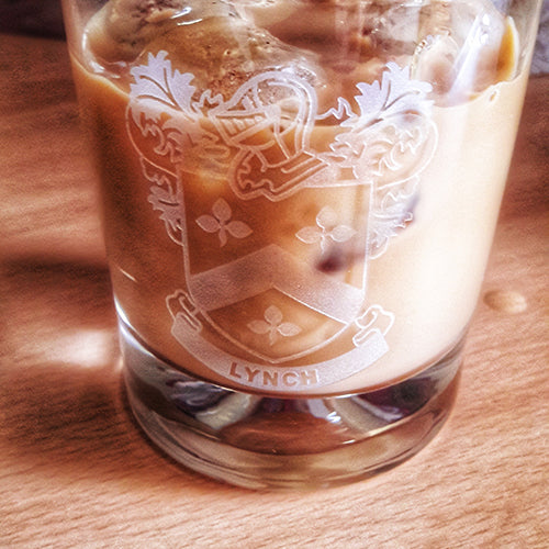 Coat of Arms Whisky Tumbler Engraved Coat of Arms Whisky Tumbler
