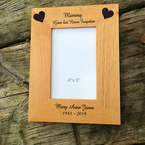 In Loving Memory Engraved Memorial Picture Frame