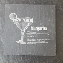 Load image into Gallery viewer, Margarita Cocktail Slate Coaster Engraved Slate Customised Coaster Personalised Coaster