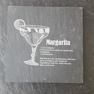 Margarita Cocktail Slate Coaster Engraved Slate Customised Coaster Personalised Coaster