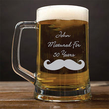 Load image into Gallery viewer, Personalised Beer Tankard Engraved Beer Tankard Birthday Beer Glass Any Message Here Beer Tankard Birthday Gift for Dad Engraved Established Birthday Beer Glass Customised Beer Tankard Gifts for Men Birthday Gift for New Dad