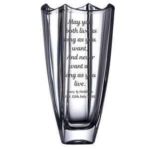 Irish Blessing Irish Wedding Blessing Engraved Galway Crystal Vase