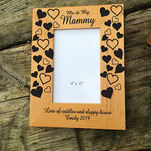 Load image into Gallery viewer, Me and My Mummy Engraved Wooden Photo Frame