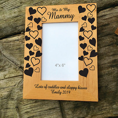 Me and My Mummy Engraved Wooden Photo Frame