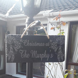 Engraved Christmas Hanging Plaque