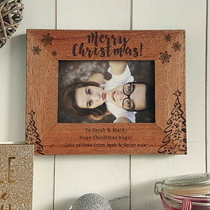 Christmas Photo Frame Personalised Photo Frame Engraved Photo Frame