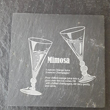 Load image into Gallery viewer, Mimosa Cocktail Slate Coaster Engraved Coaster Personalised Coaster Customised Coaster