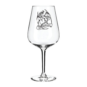 Game of Thrones Mother of Dragons Engraved Wine Glass