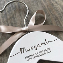 Load image into Gallery viewer, Mother of the Bride Personalised Wooden Hanger Mother of the Bride Engraved Wooden Hanger