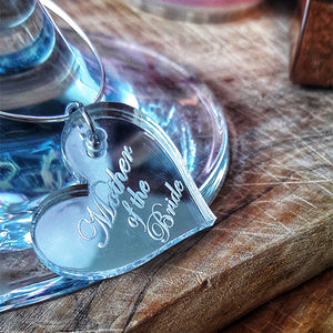 Wine Charms Stemmed Glass Charms Engraved Charms Engraved Wine Glass Charms
