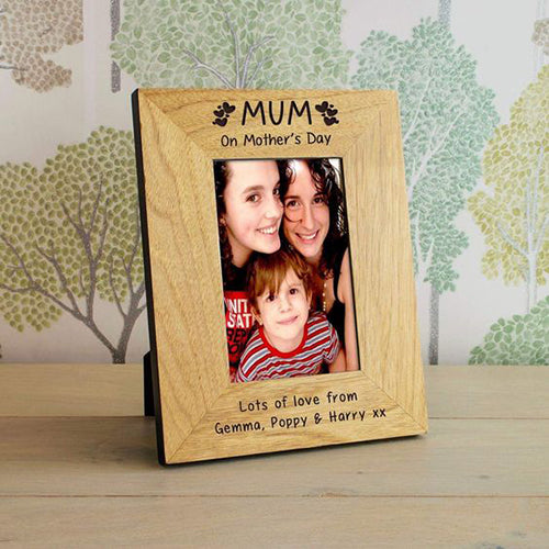 Mothers Day Gift Engraved Picture Frame Personalised Picture Frame Engraved Gifts for Mam