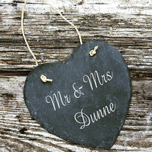 Load image into Gallery viewer, Personalised Slate Wedding Sign