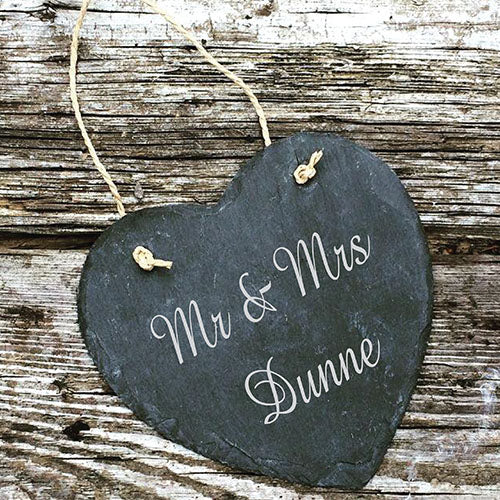 Personalised Slate Wedding Sign
