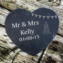 Load image into Gallery viewer, Personalised Slate Board Engraved Cheese Board Engraved Slate Cheese Board