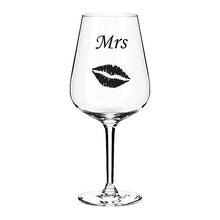 Load image into Gallery viewer, Mrs. Engraved Wine Glass