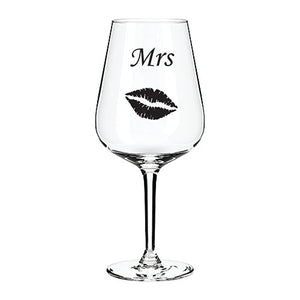 Mrs. Engraved Wine Glass