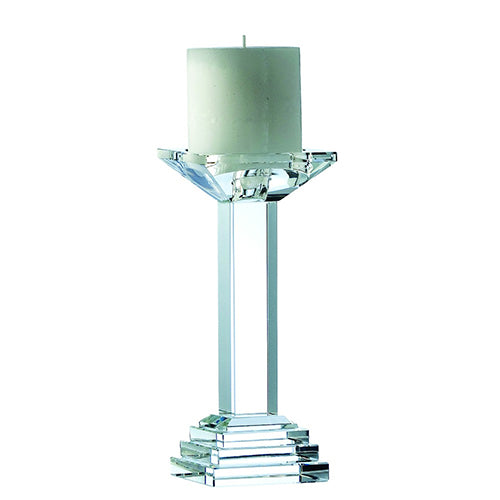 Crystal Candle Holder Engraved Crystal Candle Holder Engraved Candleholder  Galway Crystal