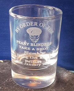 Personalised Peaky Blinders Shot Glass