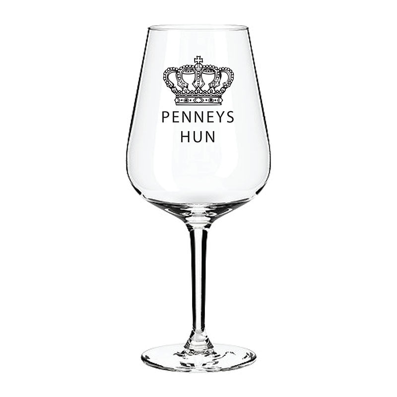 Penneys Engraved Wine Glass Engraved Wine Glass