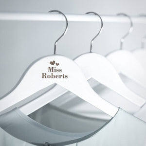 Mr & Mrs Engraved Wooden Hangers Mr and Mrs Personalised Wedding Hangers