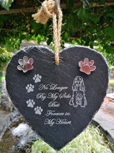Load image into Gallery viewer, Slate Heart Memorial for your Pet