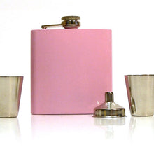 Load image into Gallery viewer, Engraved Pink Hip Flask