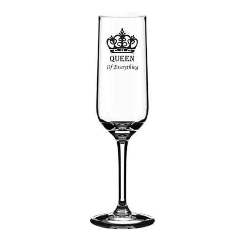 Engraved Wedding Champagne Flute