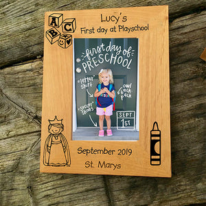 Personalised Photo Frame Engraved First Day Photo Frame Customised First Day Photo Frame