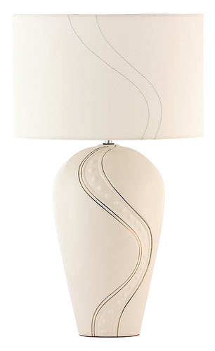 Belleek Lamp Silver Ripple Lamp and Shade Engravable Lamp Silver Ripple Belleek Lamp  Irish Pottery Belleek Pottery Irish Pottery on Line Wedding Gift Lamp and Shade Belleek Lamp and Shade Wedding Gift